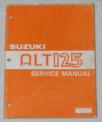 1983 1984 SUZUKI ALT125 Moto Sport Service Manual ALT 125 ATV Dealer Shop Repair