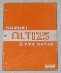 1983 1984 SUZUKI ALT125 Moto Sport Service Manual ALT 125 ATV Dealer Shop Repair