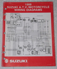 "1988 SUZUKI Motorcycle and ATV Electrical Wiring Diagrams Manual 88 ""J"" Models"