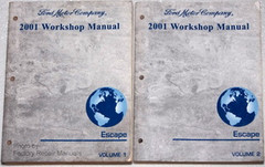 2001 Ford Escape Workshop Manual Volume 1, 2