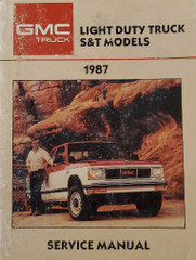 GMC Light Duty Truck S & T Models 1987 Service Manual