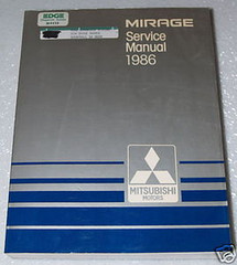 1986 MITSUBISHI MIRAGE Service Manual OEM Factory Dealer Shop Repair Book 86