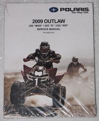 2009 POLARIS OUTLAW 525 S IRS 450 MXR Service Manual ATV Shop Repair 9921810 NEW