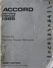 Accord Service Manual 1986