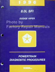 1996 8.0L SFI Dodge Viper Powertrain Diagnostic Procedures