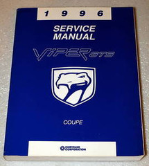 1996 Service Manual Viper GTS Coupe