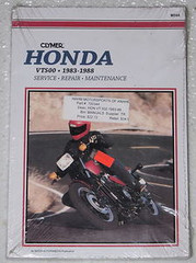 1983 1988 HONDA VT500 Clymer Repair Manual VT 500 Service 1984 1985 1986 1987