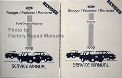 Ford Ranger / Explorer / Aerostar 1992 Service Manual Volume 1, 2