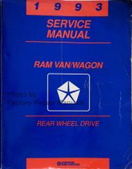 1993 Service Manual Ram Van/Wagon Rear Wheel Drive