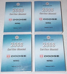 2008 Dodge Nitro Service Manual Volume 1, 2, 3, 4