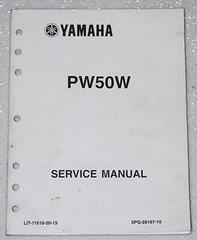 2007 YAMAHA PW50 Y-ZINGER 50 Motorcycle Service Manual PW50W Factory Shop Repair