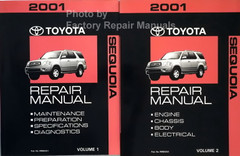 2001 Toyota Sequoia Repair Manual Volume 1 and 2