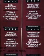 2003 Town & Country, Caravan and Voyager Diagnostic Procedures Body, Powertrain, Transmission, Chassis