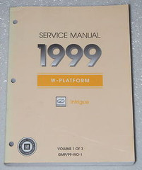 Service Manual 1999 Oldsmobile Intrigue Volume 1