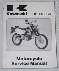 2003 KAWASAKI KLX400 SR 2001 2002 SUZUKI DR-Z400S Service Manual OEM Shop Repair