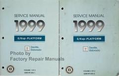 1999 Cadillac Deville, Eldorado Service Manual Volume 1, 2
