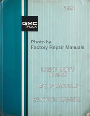 1991 GMC Light Duty Truck R/V, P Service Manual