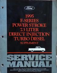 1995 Ford F250 F350 Super Duty Truck 7.3L Power Stroke Diesel Service Manual Supplement