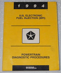 1994  8.0L Electronic Fuel Injection (MPI) Powertrain Diagnostics Procedures