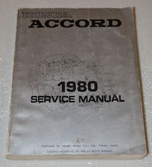 1980 Honda Accord Factory Service Manual Original Shop Repair