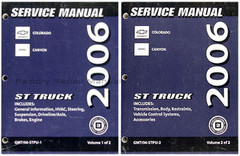 2006 Chevy Colorado GMC Canyon Factory Shop Service Manual Set