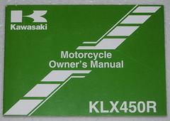 2009 KAWASAKI KLX450R Owners Manual KLX450A9  KLX 450 R A9 Motorcycle Original