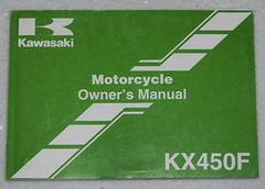 2006 KAWASAKI KX450F Owners Manual KX 450 F KX450-D6F Motorcycle Original