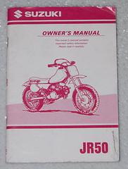 1998 1999 Suzuki JR50 Owners Manual JR50W JR50X Motorcycle Original Dealer JR 50