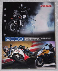 2009 YAMAHA Motorcycle Scooter Technical Update Manual Zuma T-Max V-Star FZ6R