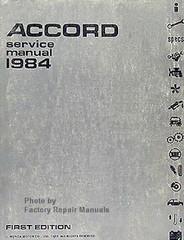 Accord Service Manual 1984