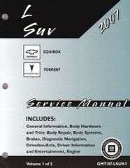2007 Chevy Equinox Pontiac Torrent Service Manual Volume 1, 2