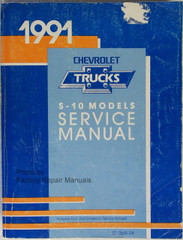 1991 Chevrolet S-10 Models Service Manual