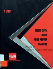 1993 GMC Light Duty Truck Unit Repair Manual