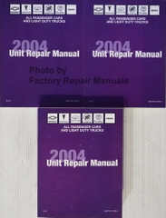 2004 GM Car and Truck Transmission Transaxle and Transfer Case Unit Repair Shop Manual Volume 1, 2