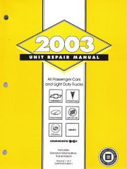 2003 GM Car and Truck Transmission, Transaxle & Transfer Case Unit Repair Shop Manual Set