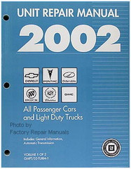 2002 GM Car and Truck Transmission, Transaxle & Transfer Case Unit Repair Shop Manual Set