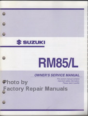 Suzuki RM85/L Owner's Service Manual
