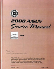 2008 Chevrolet HHR Service Manual Volume 1, 2, 3