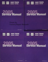 Chevrolet GMC 560C Truck Kodiak / Topkick 2005 Service Manual Volume 1a, 1b, 2a, 2b