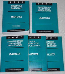 2001 Service Manual Dodge Dakota Powertrain, Transmission, Body, Chassis Diagnostic Manuals