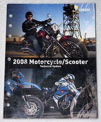2008 YAMAHA Motorcycle Scooter Technical Update Manual XV1900 WR250 XT250 TTR110