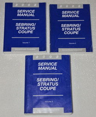 2002 Chrysler Sebring Coupe Dodge Stratus Coupe Factory Shop Service Manual Set