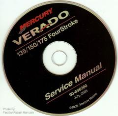 Mercury Verado FourStroke 135 150 175 Outboard Service Manual CD-ROM