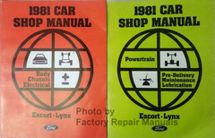 1981 Ford Escort Mercury Lynx Shop Manual Powertrain, Pre-Delivery, Maintenance, Lubrication, Body, Chassis, Electrical