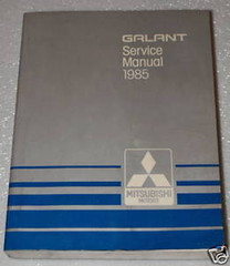 Galant Service Manual 1985 Mitsubishi Motors
