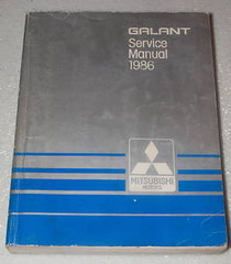 Galant Service Manual 1986 Mitsubishi Motors
