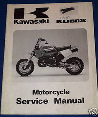 1988 KAWASAKI KD80X Service Manual KD80-N1 Motorcycle Factory Dealer Shop Repair