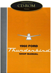 1960 Ford Thunderbird Factory Shop Manual CD T-Bird Complete Service Repair