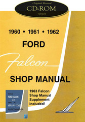 1960-1963 Ford Falcon Futura Ranchero Mercury Comet Shop Service Manual CD