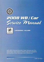 2008 Buick LaCrosse and Allure Factory Service Manual Set
